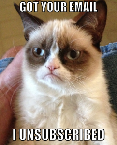 Grumpy Cat Unsubscribed