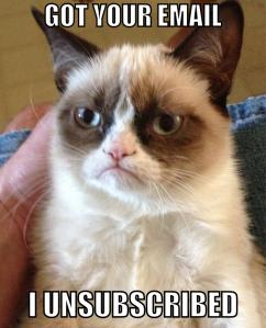 Grumpy Cat Unsubscribed